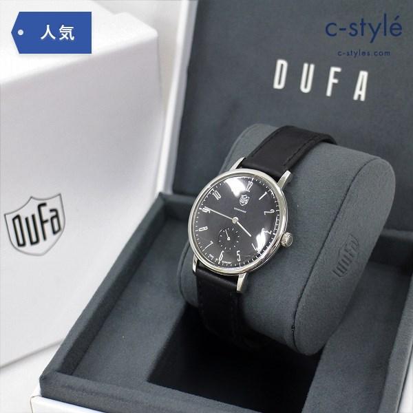 DUFA ドゥッファ DF-9001-01 腕時計 ブラック文字盤 黒 アナログ クォーツ ウォッチ