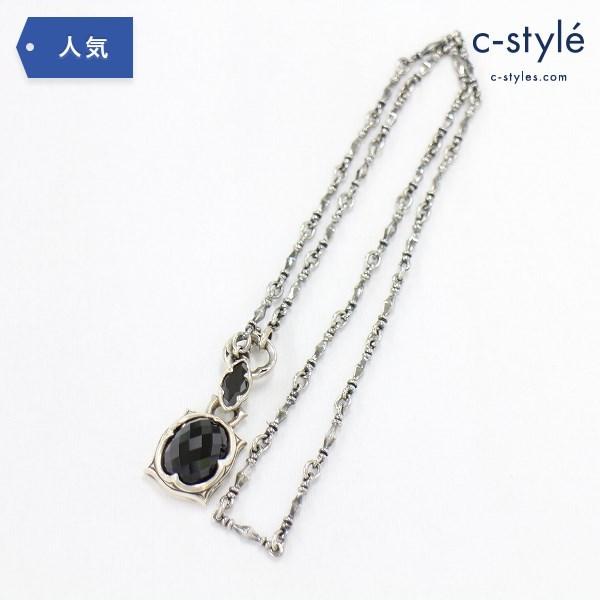 artemis classic アルテミスクラシック ネックレス オーバル ブラック スピネル シルバー 925