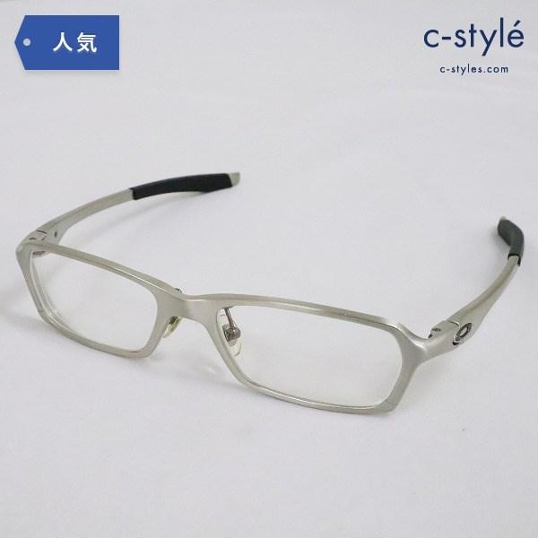 OAKLEY オークリー Concrete 2.1 Brushed Silver 度入り 眼鏡 アイウェア シルバー フレーム