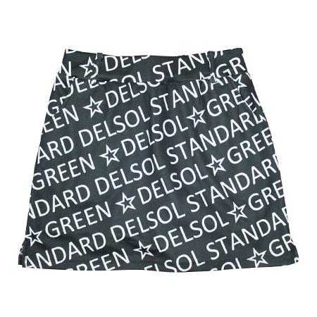 DELSOL GOLF(デルソルゴルフ) 総ロゴプリント台形スカート