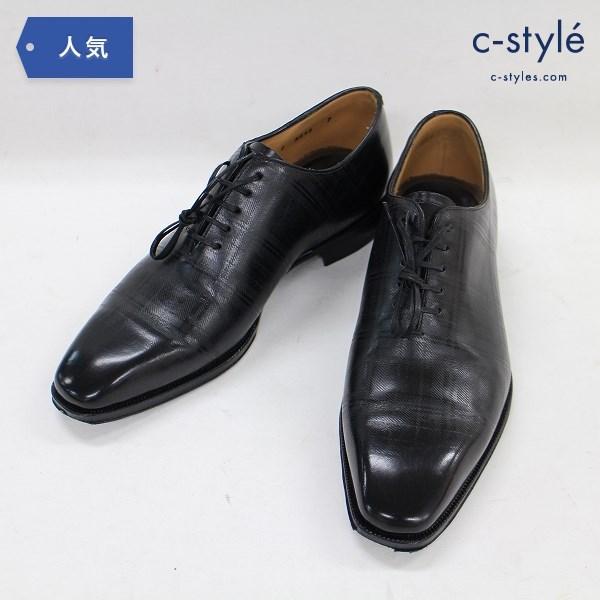FABI ファビ プレーントゥ レザー シューズ size7 チェック イタリア製 靴