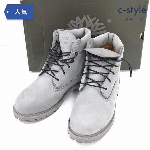 Timberland ティンバーランド プレミアム ブーツ 24.5cm グレー シューズ