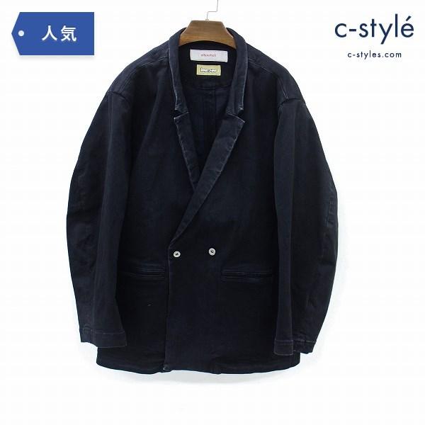 whowhat フーワット コットン ジャケット M 日本製 ブラック カジュアル