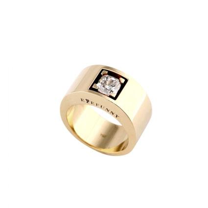 EYEFUNNY(アイファニー) ダイヤモンド フラットリング 18KYG