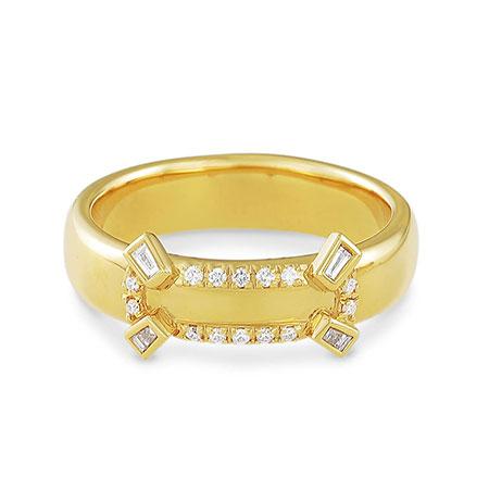 BELLESIORA(ベルシオラ) K18YGダイヤモンドリング