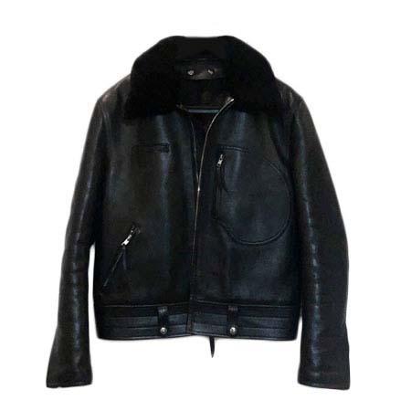 BIG TWIN(ビッグツイン) Mouton Cowhide Leather D Poke Single Riders Jacket