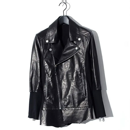 BLACK HONEY CHILI COOKIE(ブラックハニーチリクッキー) Sheep Leather Switching Rider's / BLACK 2904902