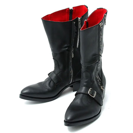 BLACK HONEY CHILI COOKIE(ブラックハニーチリクッキー) Zip Engineer Boots / BLACK 2902604