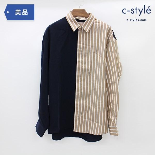 CULLNI クルニ ブロッキング ストライプ シャツ size1 日本製