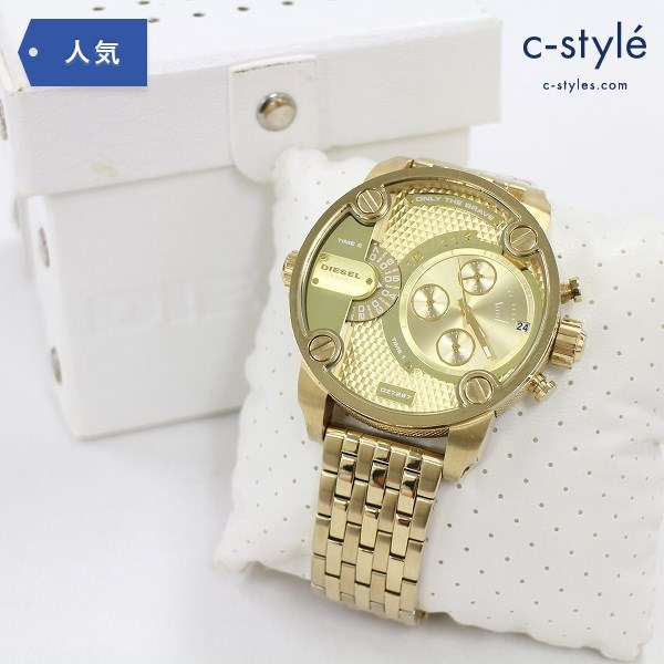 DIESEL ディーゼル 腕時計 DZ-7287 ゴールドカラー ウォッチ アナログ