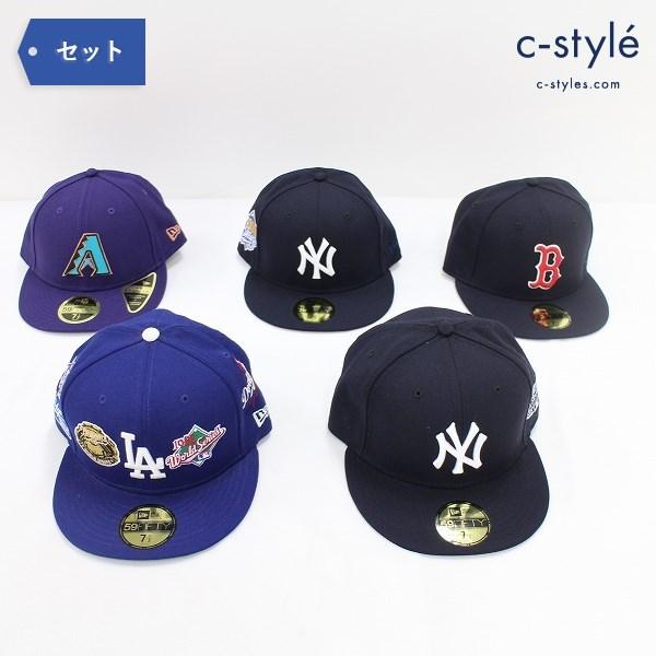 NEW ERA 59FIFTY キャップ 7 1/2 59.6cm 5点 帽子 MLB LA ドジャース NY