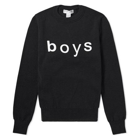 COMME des GARCONS SHIRT boys(コムデギャルソンシャツボーイズ) Crew Knit