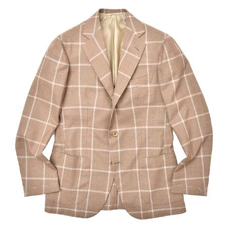 DALCUORE(ダルクオーレ) ウール メランジ ウィンドウペーン シングル3Bジャケット