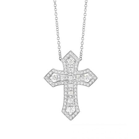DAMIANI(ダミアーニ) ベル エポック・クラウン ホワイトゴールド ダイヤモンド ネックレス Lサイズ
