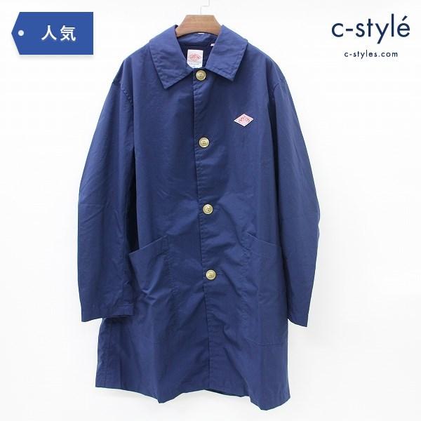 DANTON ダントン ステンカラー コート size40 ナイロン ネイビー メンズ 紺