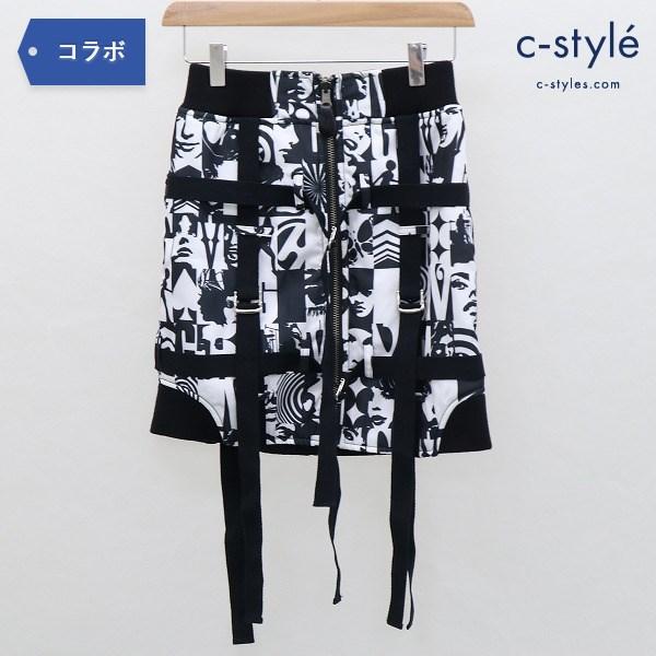 HYSTERIC GLAMOUR × G.V.G.V. テープ ミニ スカート size34