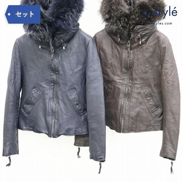 GOA ゴア レザー ジャケット FREE SIZE フード付き カジュアル メンズ