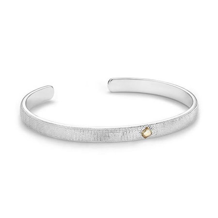 De Beers(デビアス) Talisman open bangle in white gold