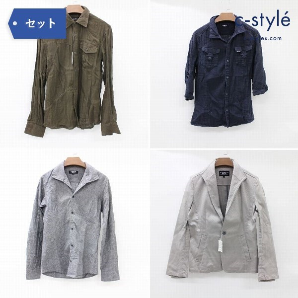 TORNADO MART トルネードマート シャツ ジャケット M 4点 メンズ 長袖 薄手