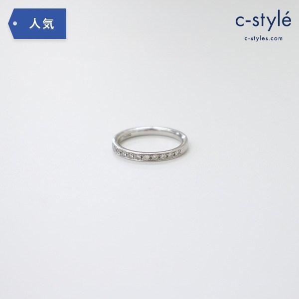 4℃ ヨンドシー Pt950 ダイヤモンド リング 8号 指輪 プラチナ