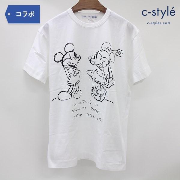 COMME des GARCONS SHIRT × ディズニー Tシャツ L 半袖 ミッキー ミニー 白