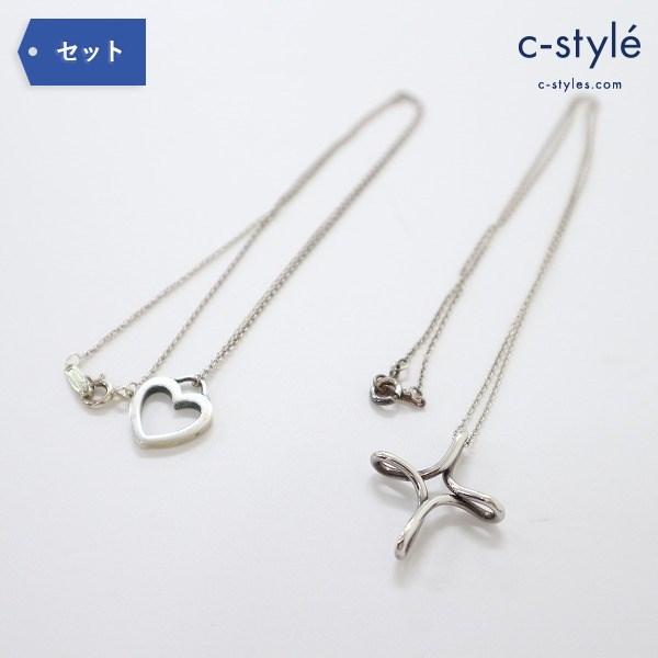 Tiffany & Co ティファニー オープンクロス ハート型 ネックレス シルバー 925